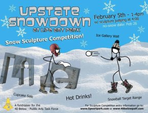 UPSTATE SNOWDOWN coming to Lipe Art Park on February 5th!